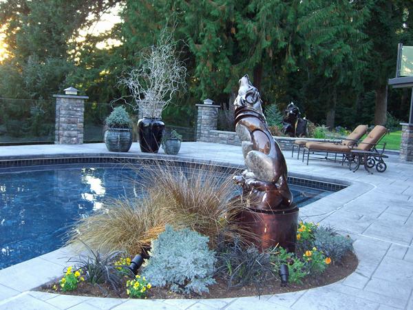 timber wolf bronze sculpture