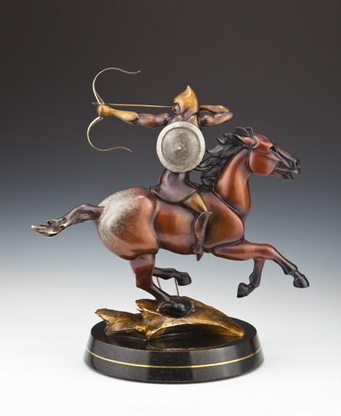 magyar, hungarian warrior, rider, bronze magyar sculpture