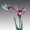 red rufous bronze hummingbird art