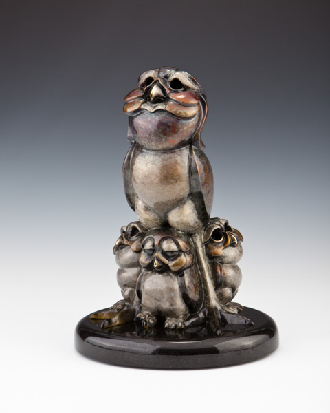 Burrowing Owl, Cloud Bird, Burrowing Owl Bronze Sculpture