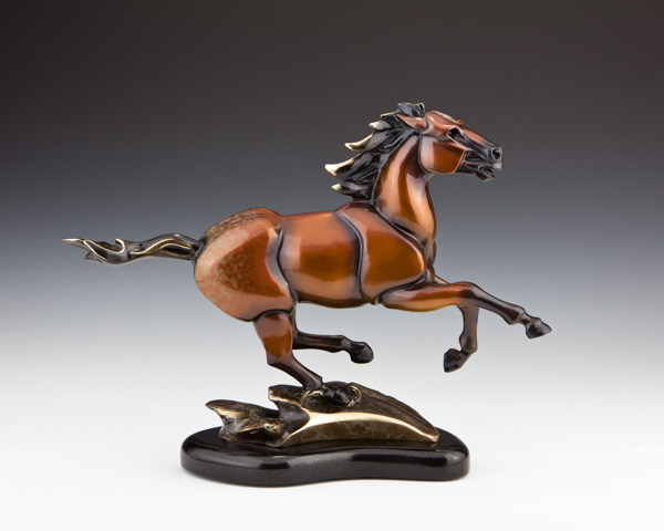 Running Stallion Bronze Horse