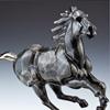 Black Stallion Mare Bronze Sculpture, Wild Horse Bronze Art, Black Night Horse, War Horse Sculpture